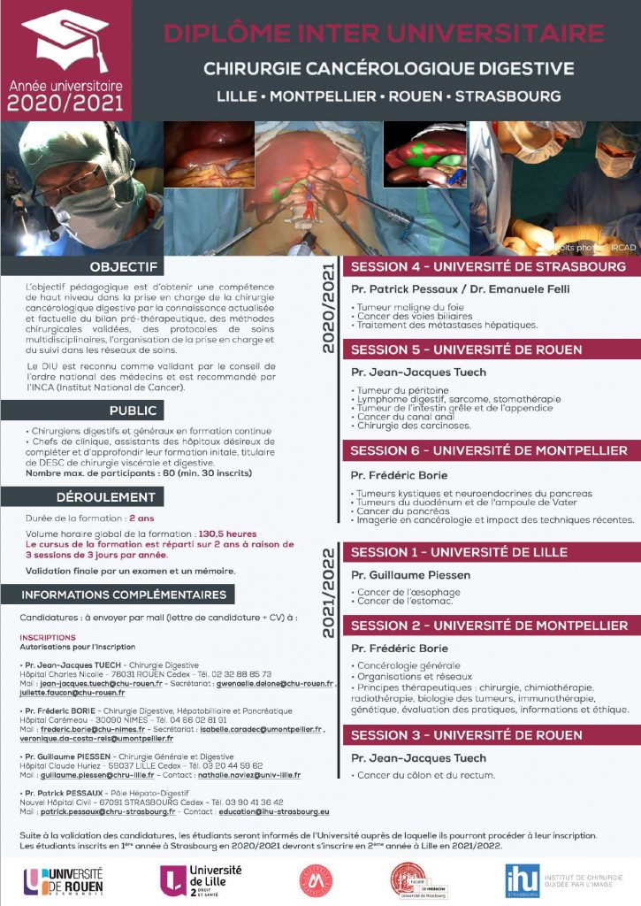 INTER UNIVERSITY DIPLOMA FOR DIGESTIVE CANCER SURGERY