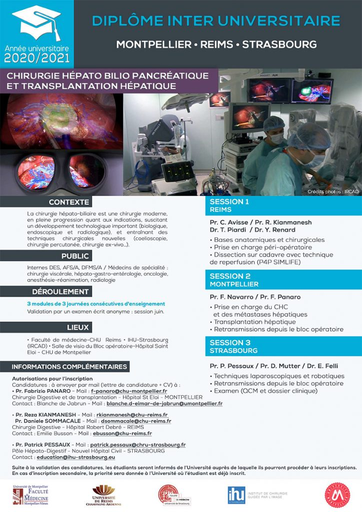 INTER UNIVERSITY DIPLOMA FOR HEPATOBILIOPANCREATIC SURGERY AND HEPATIC TRANSPLANTATION