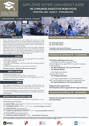 INTER UNIVERSITY DIPLOMA FOR ROBOTIC DIGESTIVE SURGERY