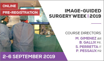 NOUVEAU COURS EN 2019 IMAGE-GUIDED SURGERY WEEK