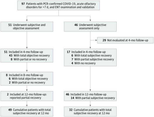 Clinical Outcomes for Patients With Anosmia 1 Year After COVID-19 Diagnosis