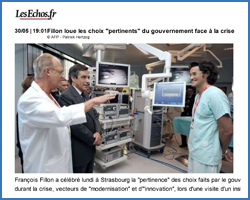 Les Echos - Visit of First Minister François Fillon